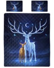 Deer and baby Queen Quilt Bed Set front