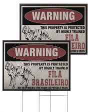 Fila dog this property is protected 24x18 Yard Sign aos-yard-sign-24x18-ghosted-front-03