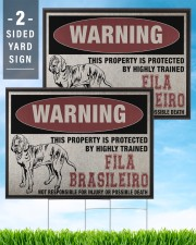 Fila dog this property is protected 24x18 Yard Sign aos-yard-sign-24x18-lifestyle-front-32