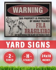 Fila dog this property is protected 24x18 Yard Sign aos-yard-sign-24x18-lifestyle-front-33