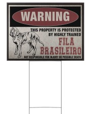 Fila dog this property is protected 24x18 Yard Sign front