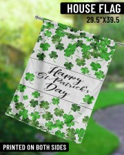"""Lucky Shamrock Happy St Patrick's Day 29.5""""x39.5"""" House Flag aos-house-flag-29-5-x-39-5-ghosted-lifestyle-13"""