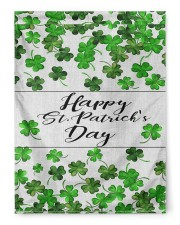 """Lucky Shamrock Happy St Patrick's Day 29.5""""x39.5"""" House Flag front"""