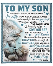 """Never Feel That You Are Alone Dad To Son  Fleece Blanket - 50"""" x 60"""" front"""