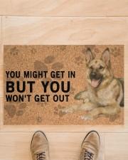 """German Shepherd Dog You Might Get In  Doormat 22.5"""" x 15""""  aos-doormat-22-5x15-lifestyle-front-02"""