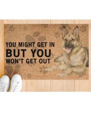 """German Shepherd Dog You Might Get In  Doormat 22.5"""" x 15""""  aos-doormat-22-5x15-lifestyle-front-03"""
