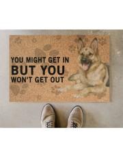 """German Shepherd Dog You Might Get In  Doormat 22.5"""" x 15""""  aos-doormat-22-5x15-lifestyle-front-04"""