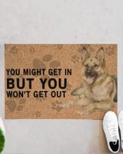 """German Shepherd Dog You Might Get In  Doormat 22.5"""" x 15""""  aos-doormat-22-5x15-lifestyle-front-06"""