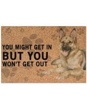"""German Shepherd Dog You Might Get In  Doormat 22.5"""" x 15""""  front"""