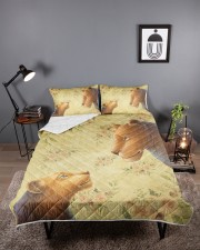 Lion mother and daughter Queen Quilt Bed Set aos-queen-quilt-bed-set-lifestyle-front-02