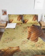 Lion mother and daughter Queen Quilt Bed Set aos-queen-quilt-bed-set-lifestyle-front-05a