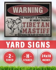 Tibetan dog this property is protected 24x18 Yard Sign aos-yard-sign-24x18-lifestyle-front-33