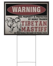 Tibetan dog this property is protected 24x18 Yard Sign back