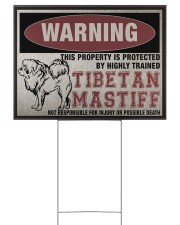 Tibetan dog this property is protected 24x18 Yard Sign front