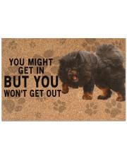 """Tibetan Mastiff you might get in Doormat 22.5"""" x 15""""  front"""