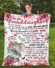 """In This Blanket Grandma To Granddaughter Fleece Blanket - 50"""" x 60"""" aos-coral-fleece-blanket-50x60-lifestyle-front-01a"""