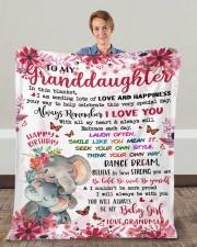 "In This Blanket Grandma To Granddaughter Fleece Blanket - 50"" x 60"" aos-coral-fleece-blanket-50x60-lifestyle-front-01c"