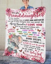 "In This Blanket Grandma To Granddaughter Fleece Blanket - 50"" x 60"" aos-coral-fleece-blanket-50x60-lifestyle-front-02"