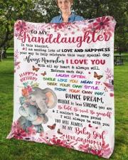 "In This Blanket Grandma To Granddaughter Fleece Blanket - 50"" x 60"" aos-coral-fleece-blanket-50x60-lifestyle-front-02b"