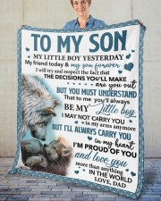 """My Little Boy Yesterday Friend Today Dad To Son  Fleece Blanket - 50"""" x 60"""" aos-coral-fleece-blanket-50x60-lifestyle-front-02"""