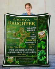 """Sometimes It's Hard To Find Words Mom To Daughter Fleece Blanket - 50"""" x 60"""" aos-coral-fleece-blanket-50x60-lifestyle-front-01"""