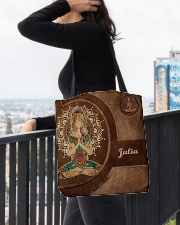 Personalized Name Hippie Namaste All-over Tote aos-all-over-tote-lifestyle-front-05