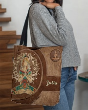 Personalized Name Hippie Namaste All-over Tote aos-all-over-tote-lifestyle-front-09