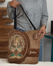 Personalized Name Hippie Namaste All-over Tote aos-all-over-tote-lifestyle-front-10