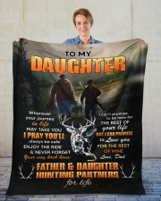 """Wherever Your Journey Hunting Dad To Daughter Fleece Blanket - 50"""" x 60"""" aos-coral-fleece-blanket-50x60-lifestyle-front-01"""