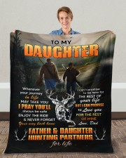 """Wherever Your Journey Hunting Dad To Daughter Fleece Blanket - 50"""" x 60"""" aos-coral-fleece-blanket-50x60-lifestyle-front-01c"""