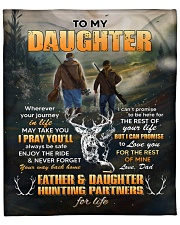 """Wherever Your Journey Hunting Dad To Daughter Fleece Blanket - 50"""" x 60"""" front"""