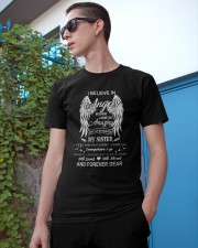 I Believe In Angels My Sister Dad To Son Classic T-Shirt apparel-classic-tshirt-lifestyle-17