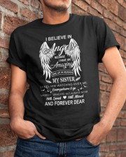 I Believe In Angels My Sister Dad To Son Classic T-Shirt apparel-classic-tshirt-lifestyle-26