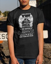 I Believe In Angels My Sister Dad To Son Classic T-Shirt apparel-classic-tshirt-lifestyle-29