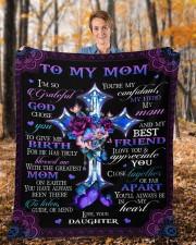 "I'm So Grateful God Chose You Daughter To Mom Fleece Blanket - 50"" x 60"" aos-coral-fleece-blanket-50x60-lifestyle-front-01b"