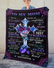 "I'm So Grateful God Chose You Daughter To Mom Fleece Blanket - 50"" x 60"" aos-coral-fleece-blanket-50x60-lifestyle-front-02"