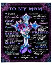 """I'm So Grateful God Chose You Daughter To Mom Fleece Blanket - 50"""" x 60"""" front"""
