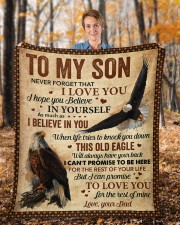 """Never Forget That I Love You Dad To Son Fleece Blanket - 50"""" x 60"""" aos-coral-fleece-blanket-50x60-lifestyle-front-01b"""