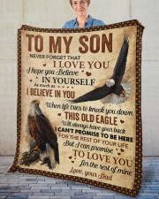 """Never Forget That I Love You Dad To Son Fleece Blanket - 50"""" x 60"""" aos-coral-fleece-blanket-50x60-lifestyle-front-02"""