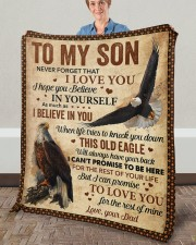 """Never Forget That I Love You Dad To Son Fleece Blanket - 50"""" x 60"""" aos-coral-fleece-blanket-50x60-lifestyle-front-02a"""