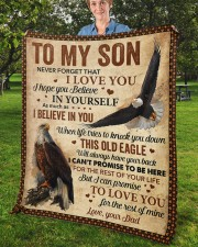 """Never Forget That I Love You Dad To Son Fleece Blanket - 50"""" x 60"""" aos-coral-fleece-blanket-50x60-lifestyle-front-02b"""