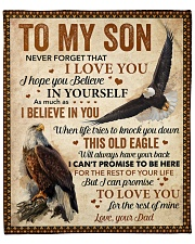 """Never Forget That I Love You Dad To Son Fleece Blanket - 50"""" x 60"""" front"""