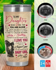 Never Feel That You Are Alone Mom To Daughter 20oz Tumbler aos-20oz-tumbler-lifestyle-front-46