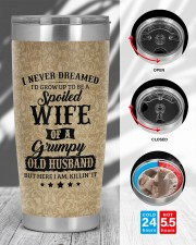 Personalized I Never Dreamed Husband To Wife 20oz Tumbler aos-20oz-tumbler-lifestyle-front-45