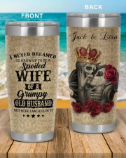 Personalized I Never Dreamed Husband To Wife 20oz Tumbler aos-20oz-tumbler-lifestyle-front-51