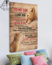 Never Forget That I Love You Lion Mom To Son 20x30 Gallery Wrapped Canvas Prints aos-canvas-pgw-20x30-lifestyle-front-02