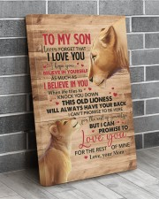 Never Forget That I Love You Lion Mom To Son 20x30 Gallery Wrapped Canvas Prints aos-canvas-pgw-20x30-lifestyle-front-12