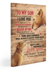 Never Forget That I Love You Lion Mom To Son 20x30 Gallery Wrapped Canvas Prints front