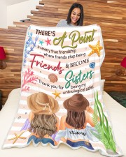 """There's A Point In Every True Friendship Custom Large Fleece Blanket - 60"""" x 80"""" aos-coral-fleece-blanket-60x80-lifestyle-front-04a"""