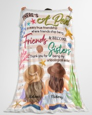 """There's A Point In Every True Friendship Custom Large Fleece Blanket - 60"""" x 80"""" aos-coral-fleece-blanket-60x80-lifestyle-front-10"""